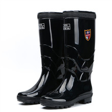 Medium high tube boots, summer men's wearable working water shoes, fishing boots.