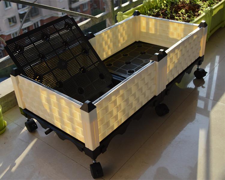 阳台加深种植箱屋顶菜园种菜盆 特大蔬菜树脂塑料组合花盆种菜箱图片