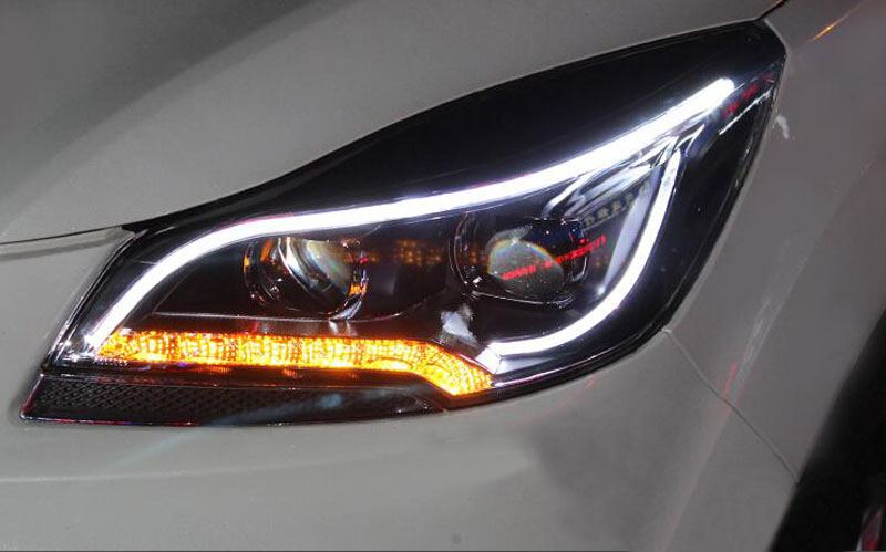 For Ford Escape 2017 15 Front Headlight Embly White Halo Projector 190672172362 Ebay