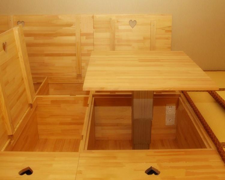 Татами-подиум В японском стиле татами и татами комната Лифт настольный пакет на заказ татами твердой древесины шкафа подъема рабочего стола
