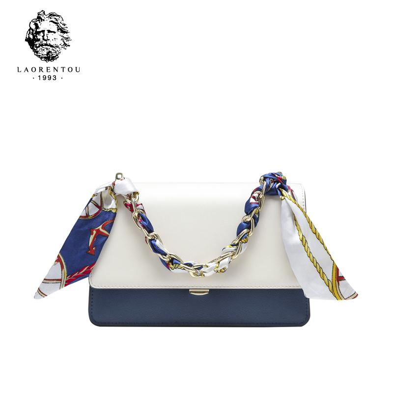 凯莉包包2021新款潮时尚百搭单肩斜挎设计感网红丝巾链条手提小包
