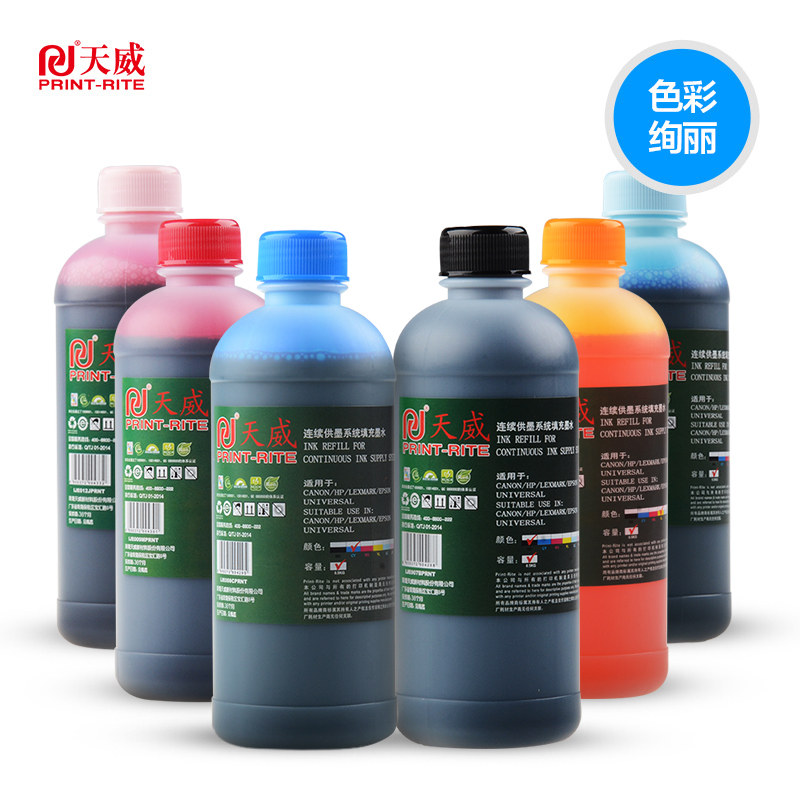 Tianwei ink 500ml General Epson Canon HP803 2132 5820 g1800 2800 mg3080  L1300 R330 L310 inkjet printer for four colors 6 colors