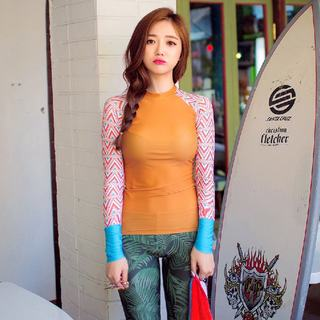 Korean sports women's fitness suit tight long sleeve quick-drying clothes two-piece nine pants sunscreen clothing spring and autumn