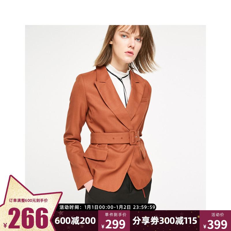 绫致ONLY冬季新款收腰显瘦气质修身休闲小西装外套女119108511