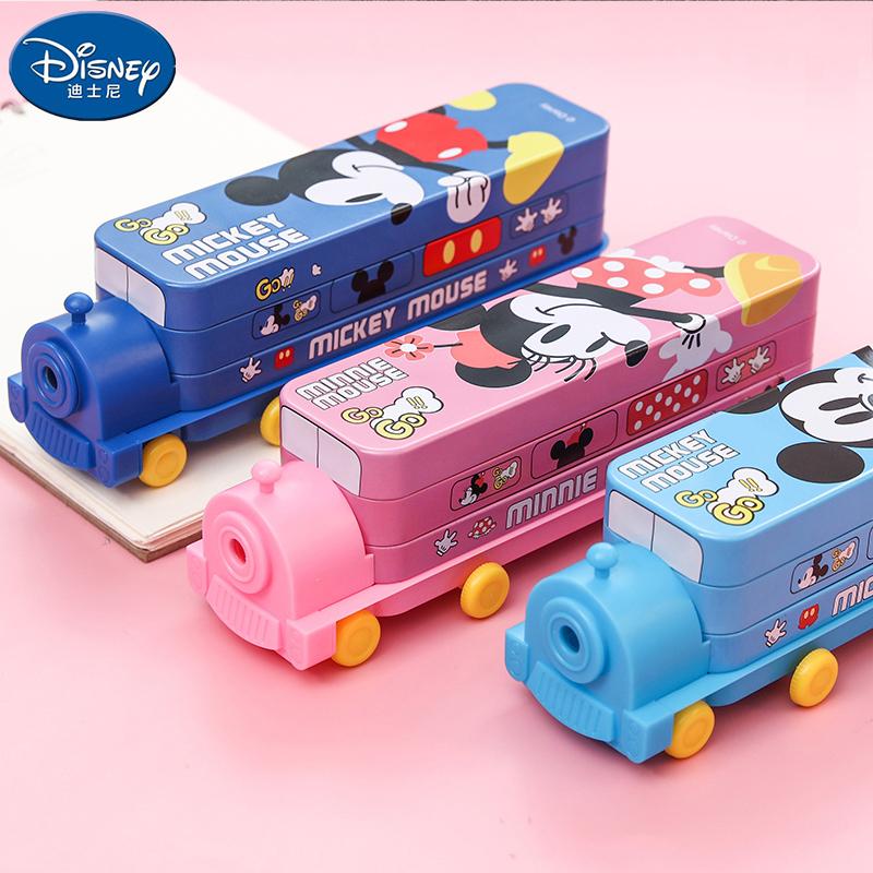 迪士尼 双层带削笔器文具盒