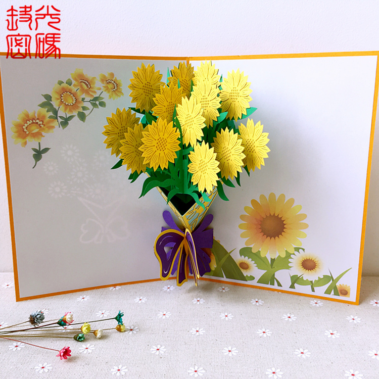 Usd 952 teachers day stereoscopic greeting card flowers 3d card teachers day stereoscopic greeting card flowers 3d card send teacher creative gift bouquet special birthday m4hsunfo