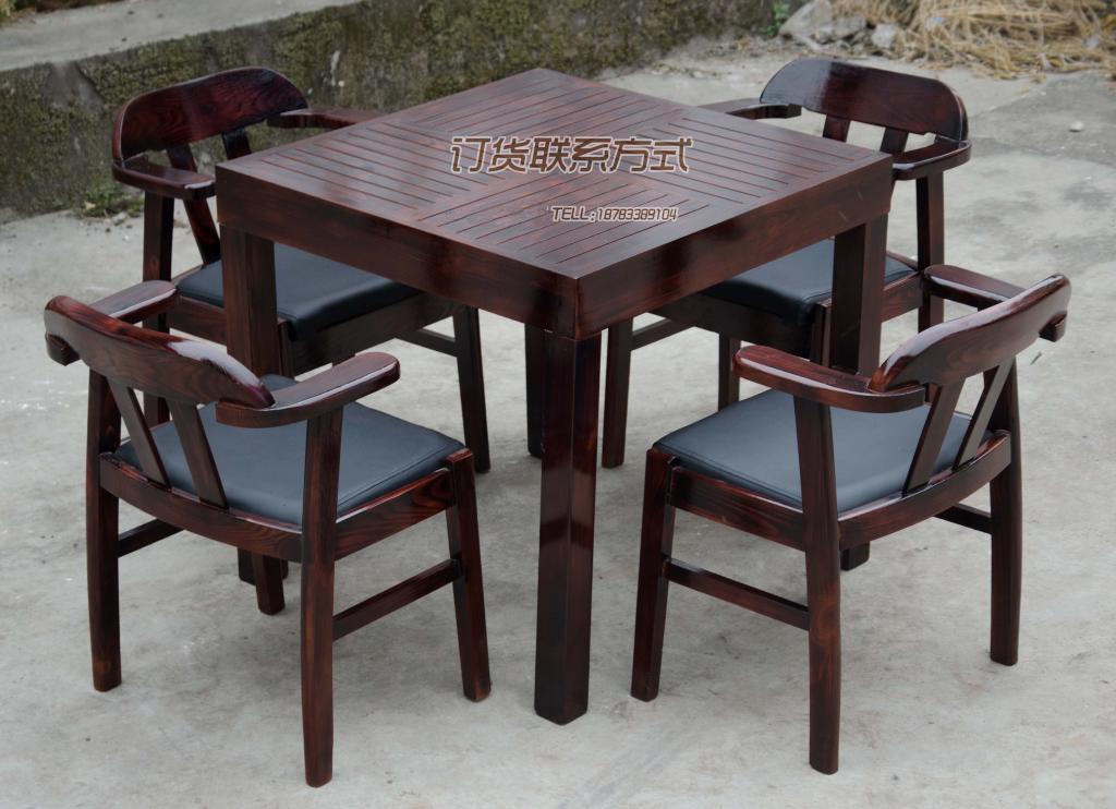 Đồ nội thất sân vườn kết hợp gỗ lửa bàn ghế đặt bàn giải trí và ghế ngoài trời bàn ghế - Nội thất văn phòng
