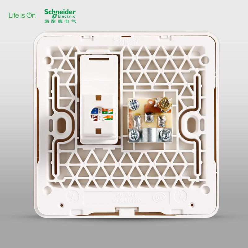 Розетка Шнейдер Электрик переключатель гнездо ТВ+гнездо ПК сетевой кабель панель стены разгадать еще и зеркало белый фарфор