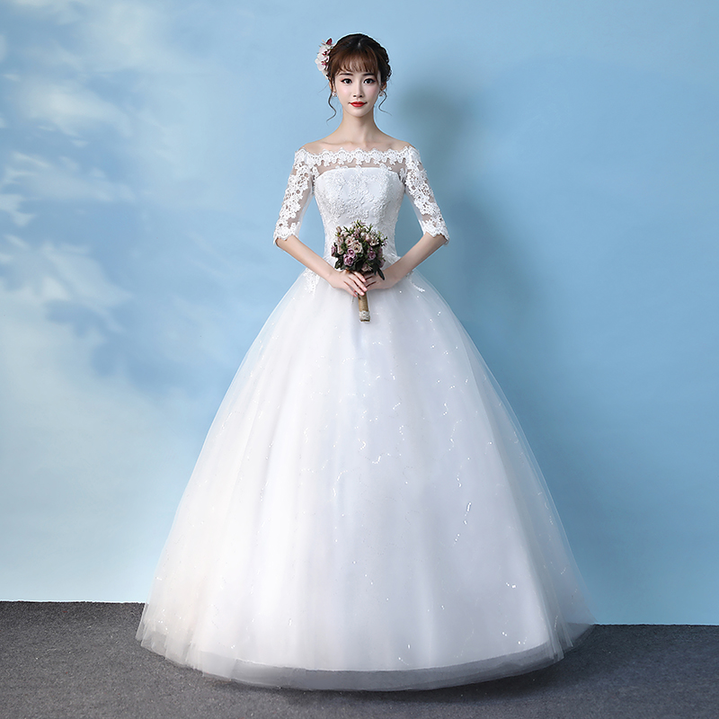 USD 71.25] Light wedding dress 2018 new autumn and winter bride Qi ...