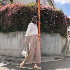Женские брюки Широкий драпировать брюки женские
