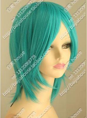 taobao agent Cosplay wig hatsune miku miku light green face short hair maid anime wig