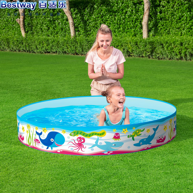 Authentic Bestway pool hard glue play pool fish pond fishing pool water lily pond inflatable