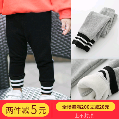 Men and women plus velvet padded leggings autumn and winter 1-3-year-old children's warm pants 2 girls cotton trousers children's trousers