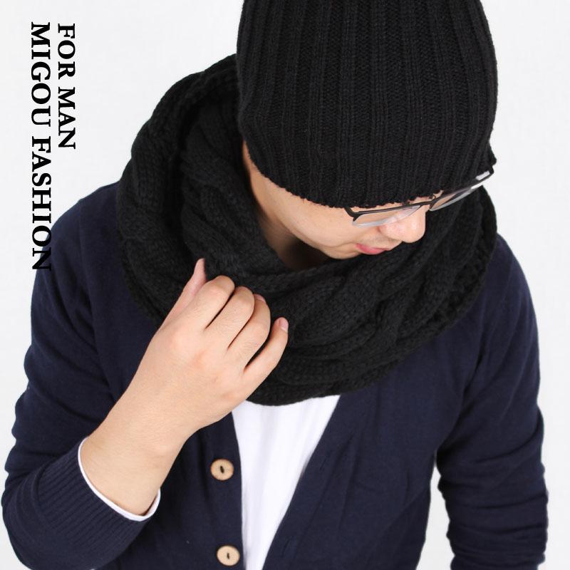 шарф М купить новый корейский моды Twist Снуд стиль лицами шарф вязание теплый шерстяной шарф женский пара
