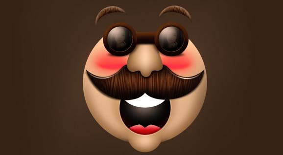[鼠标绘制]-哈哈笑脸绘制