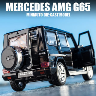 Mercedes-Benz G65AMG alloy car model Jiangyuan children off-road toy car sound and light pull-back door simulation car model