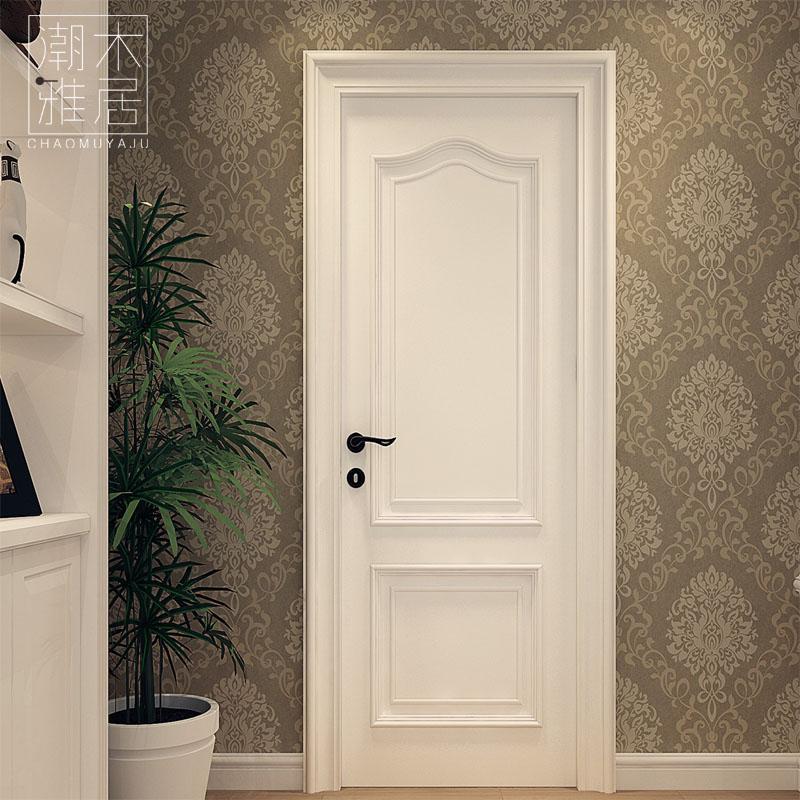 Solid wood doors interior door set door wooden door solid wood multi-layer paint door & USD 625.10] Solid wood doors interior door set door wooden door ...