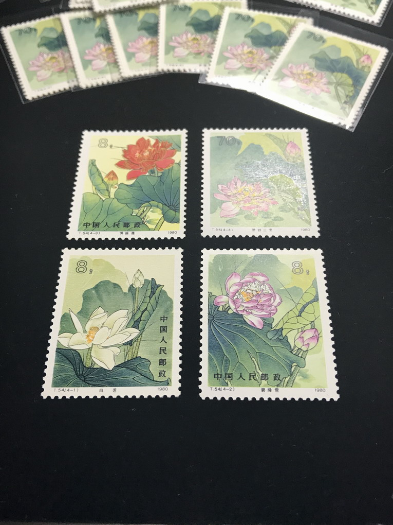Современные китайские марки т54 лотоса штампы, новая верности оригинальный клей полной фазы продукта фазы продукта очень хорошее