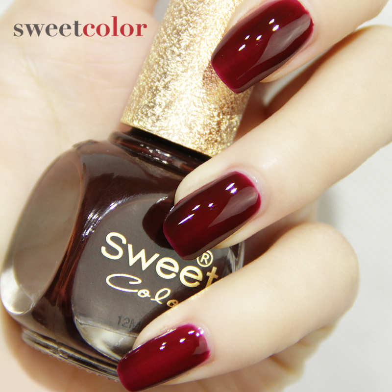 Usd 12 02 Sweetcolor Environmental Black Wine Red Nail