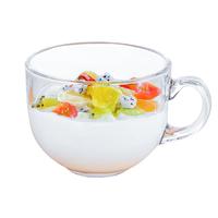 微波炉可加热儿童喝牛奶杯带有刻度玻璃水杯早餐杯子冲奶粉专用杯