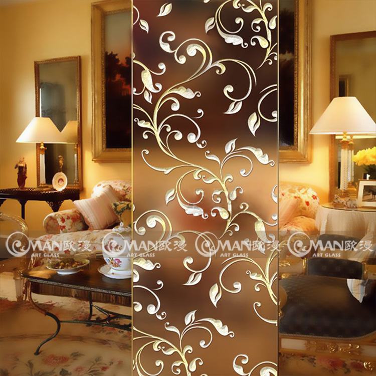art glass cut frosted carved european translucent double sided