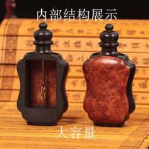 Natural mosaic Snuff Pot Traditional Crafts send snuff powder experience funnel