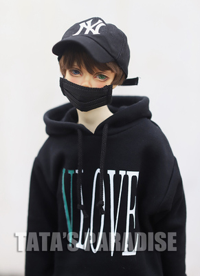 taobao agent 1/6 points 4 points 3 points Uncle BJD baby clothes mini accessories Yeboboda V-shaped single-sided printed hoodie, type C