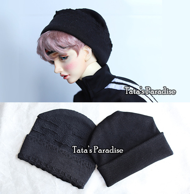 taobao agent 1/4 points 3 points Uncle BJD.MDD baby clothes with street style-black thread knitted hat