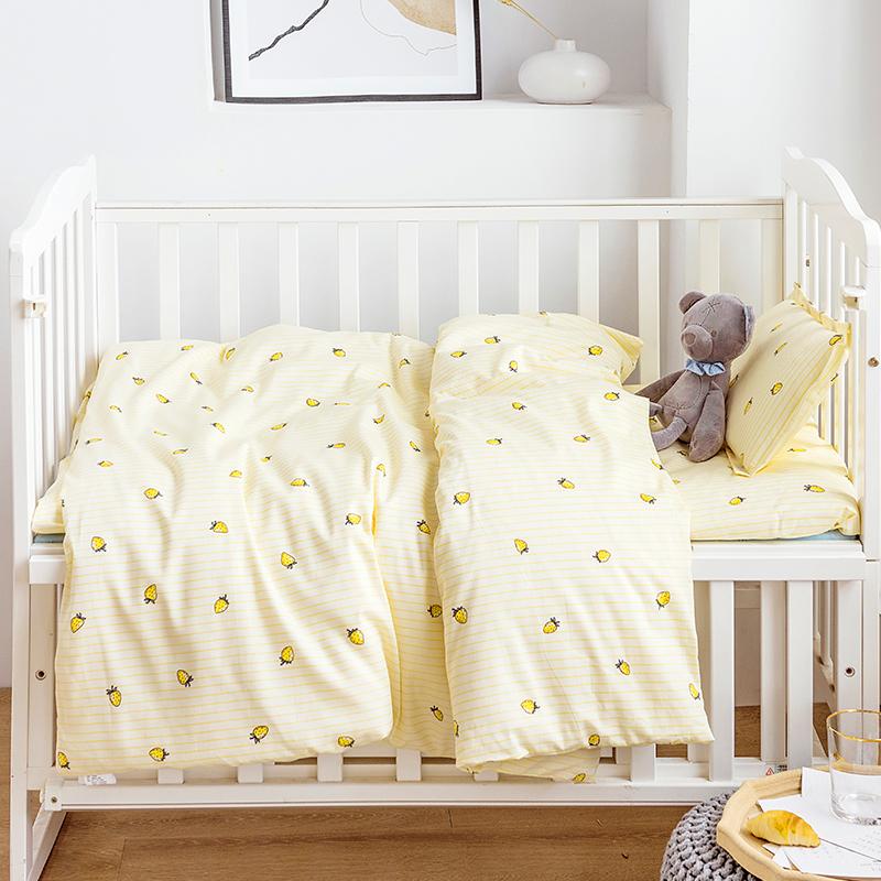 被套纯棉床上用品三套件幼儿园花色寝室床单枕套床品件套多婴儿