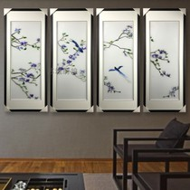 Suzhou Embroidery New Chinese boutique Magnolia four screens