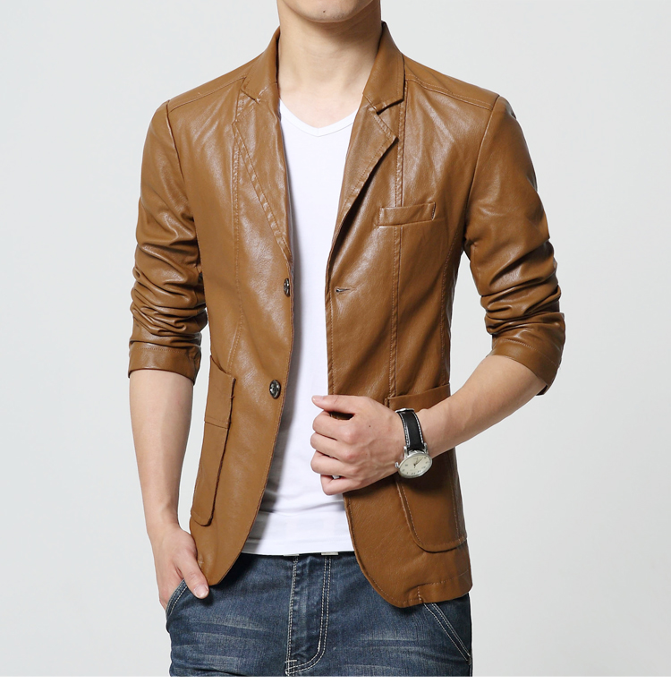 Aliexpress.com : Buy New Brand Men's Blazer Jacket Men Soft PU ...