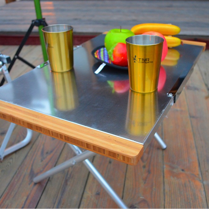 USD Tnr Outdoor Picnic Table Stainless Steel Folding Table - Stainless steel picnic table