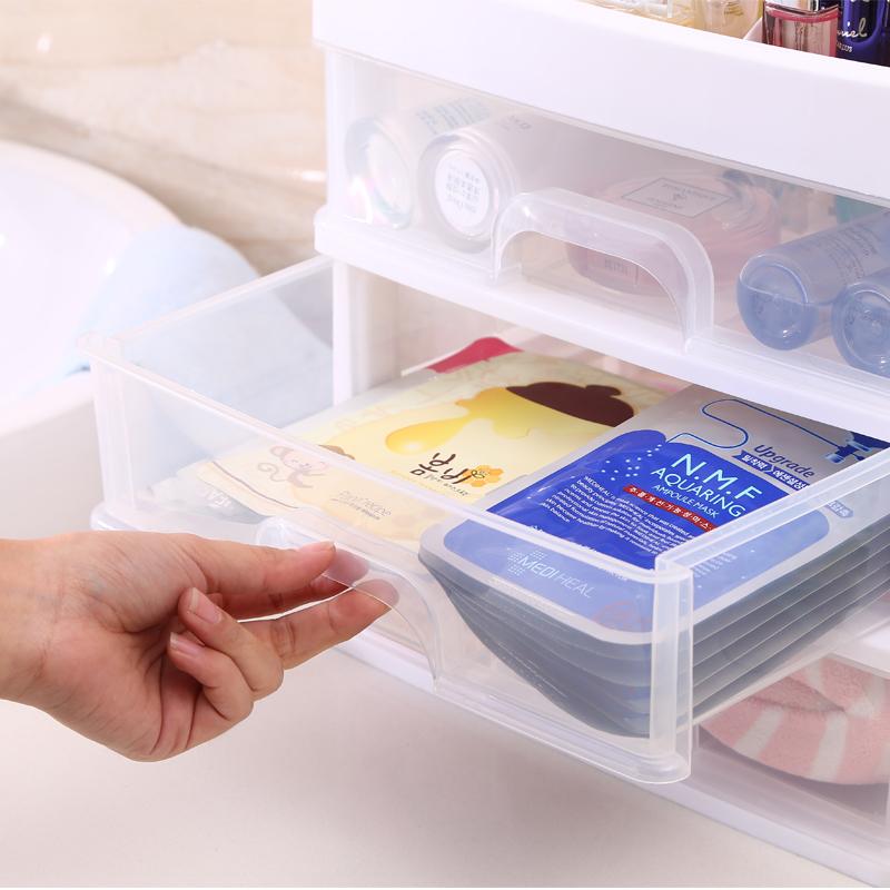 加大号化妆品收纳盒桌面置物架塑料透明收纳架梳妆台护肤品整理盒