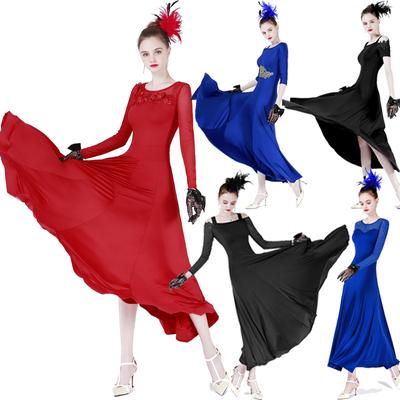 Waltz Long and Short Sleeve Modern Dress, Modern Dress, Big Sleeve National Standard Dress