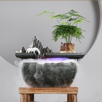Creative Ceramic fountain Decoration Feng shui financial atomization Humidifier Office