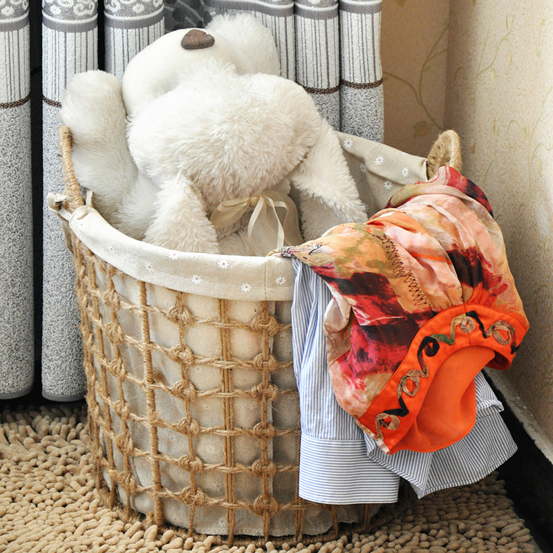 Large Storage Basket Fashion Toys Dirty Clothes Past Rattan Simple Laundry 篓 K603