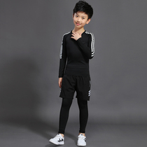 Childrens sports tights set autumn and winter childrens quick-drying fitness training suit