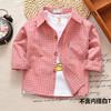 Ребенок чистый хлопок, секретаря рукавов рубашки тонкая модель ребятишки весна ребенок в клетчатой рубашке дети мальчиков рубашка ребенок пальто