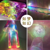 Laser film dazzling color glass film color glass sticker colorful color discoloration rainbow