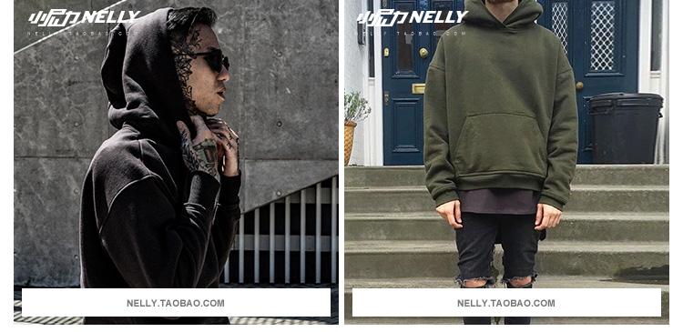 Ulzzang2018 đầu mùa thu mới retro cao triều đường thương hiệu hoang dã với loose orange trùm đầu áo len nam giới và phụ nữ