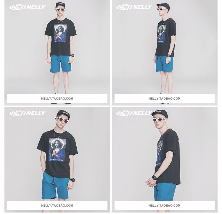 【THORNS】日系復古原宿惡搞印花潮牌歐美嘻哈hiphop短袖T恤男寬松學生半袖