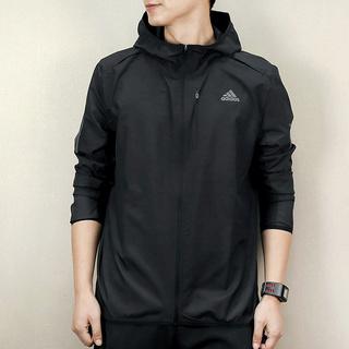 Олимпийки,  Adidas adidas мужской 2019 новый летний ветролом одежда воздухопроницаемый куртка движение пальто DH3998, цена 2862 руб