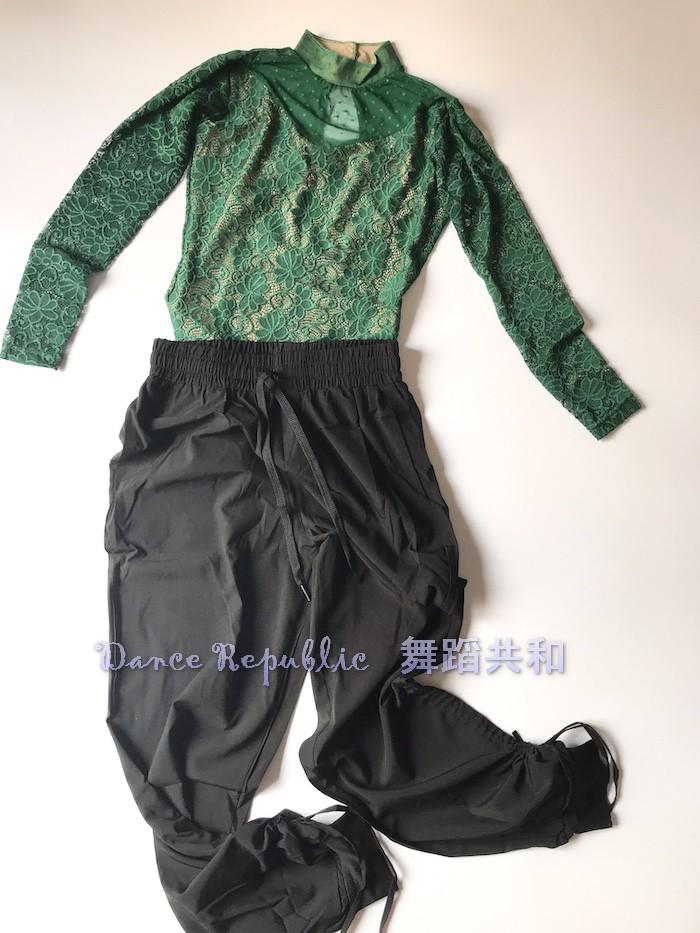 運動服飾舞蹈共和柔軟輕盈透氣遮肉小寬松舞蹈長褲二用褲腳芭蕾現代古典舞