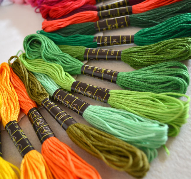 100 Different Colors Anchor Cross Stitch Cotton Embroidery Thread