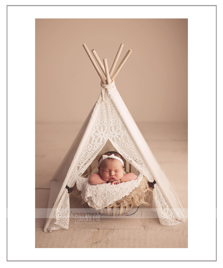 Canvas lace mini tentnewborneggplant newborn photography props sale