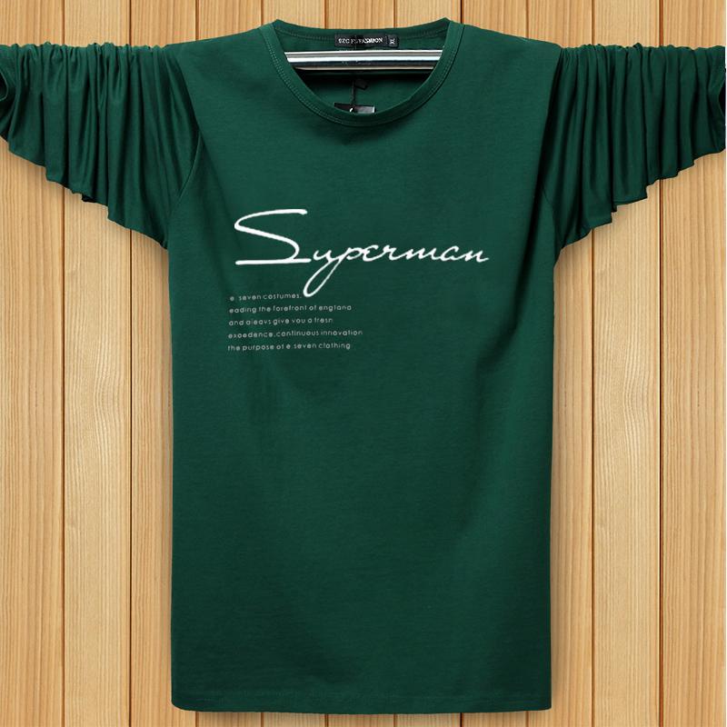 Lỏng kích thước lớn dài tay T-Shirt nam mùa hè phần mỏng cotton vòng cổ áo sơ mi XL fat man thể thao dài tay t-shirt ao thun nam dep