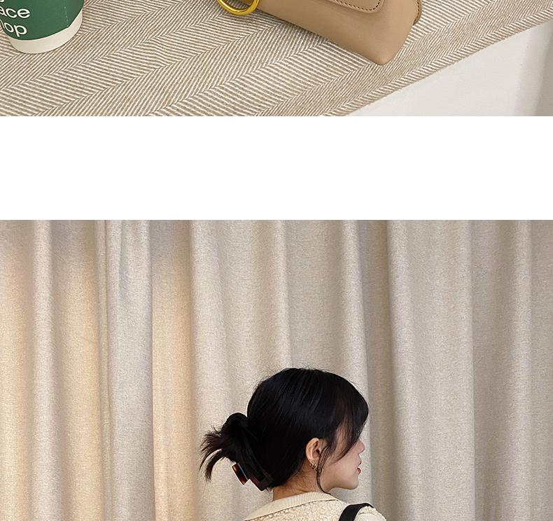 新款潮真皮包包质感大容量单肩斜挎女包百搭復古邮差包详细照片