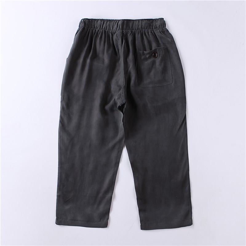 Trung quốc phong cách mùa hè nam quần âu phần mỏng lụa trung niên lỏng kích thước lớn lụa đồng ammonia nam cắt quần