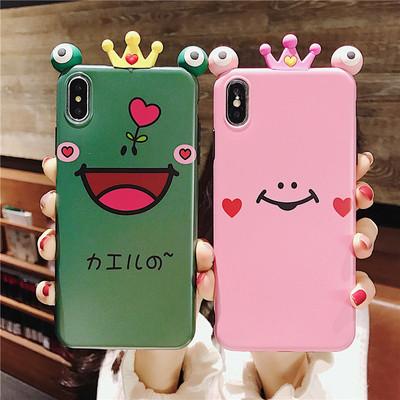 网红可爱青蛙情侣iphone系列手机壳