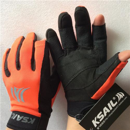 Парусная яхта KSAIL перчатки , нескользящие Износостойкая трех пальцевая вода верх Спортивный профессиональный морской перчатки